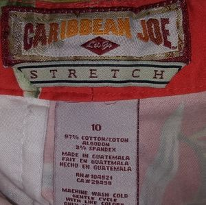 Carribean Joe Pants & Jumpsuits - Carribean Joe Stretch Hibiscus Capris Pants 10